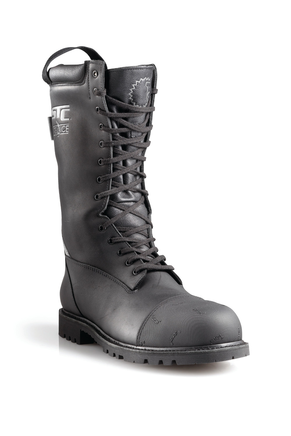 ZIP-LACE FIREFIGHTING BOOTS WITH SUPERIOR TRACTION AND FLEXIBILITY