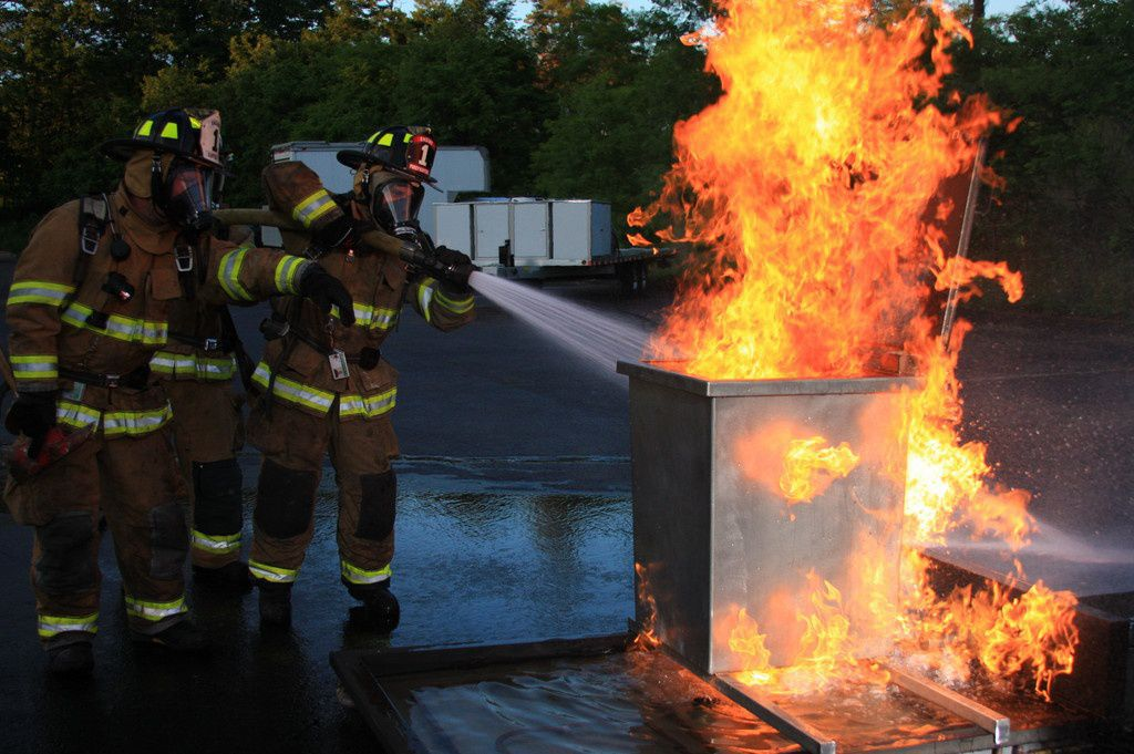Trashcan Fire Training Prop | Firefighter Training Props