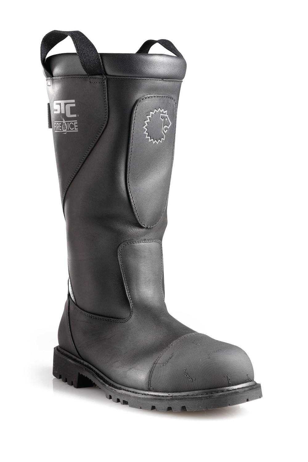 PULL-ON, SLIP-RESISTANT FIREFIGHTER BOOTS