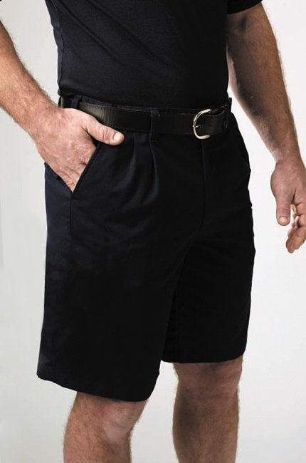 PLEATED TRADITIONAL COTTON SHORTS