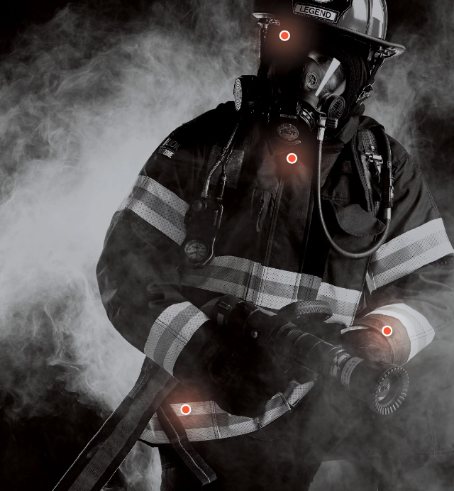 RedZone - the only ul Verified particulate blocking firefighter turnout gear